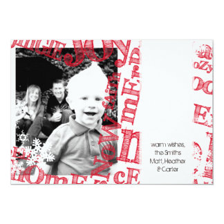 Customizable Photo Christmas Holiday Card