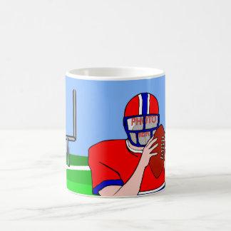 Customizable photo face football grid iron mug