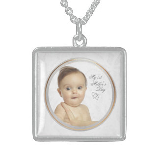 Customizable Photo First Mothers Day Necklace