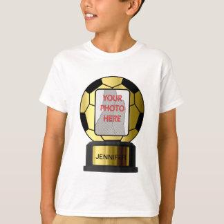Customizable photo golden soccer ball T-shirts