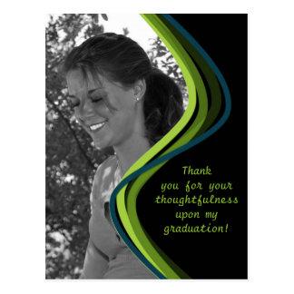 Customizable Photo - Graduation Thank You Card Postcard