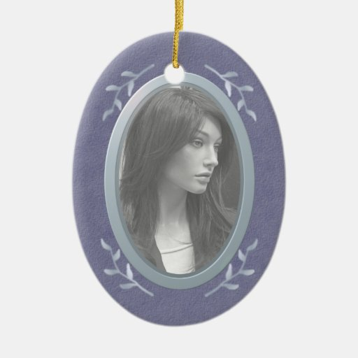 Customizable Photo Memorial Remembrance Christmas Ornaments
