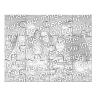 Customizable Photo Mock Puzzle Card-12 pieces Custom Announcements