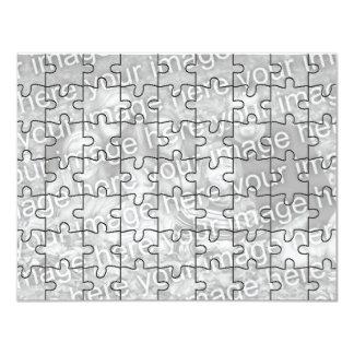 "Customizable Photo ""Mock"" Puzzle Card-63 pieces 4.25x5.5 Paper Invitation Card"