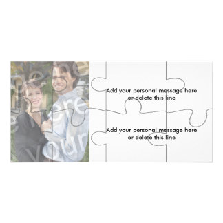 "Customizable Photo ""Mock"" Puzzle Card - 8 pieces Photo Card Template"