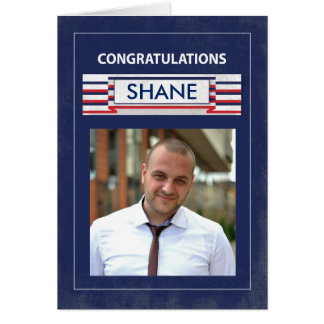 Customizable Photo, Name Fire Fighter Graduate Con Card