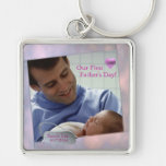 Customizable Photo Our First Fathers Day Key Chain at Zazzle