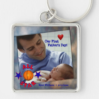 Customizable Photo Our First Fathers Day Key Chain