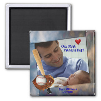 Customizable Photo Our First Fathers Day Magnet