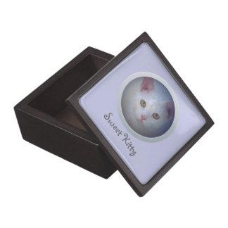 Customizable Photo -- Pet Keepsake (Pale Blue) Premium Jewelry Box
