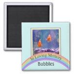 Customizable Photo Pet Memorial (Aqua) Fridge Magnets