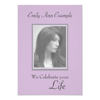 Customizable Photo Remembrance / Funeral Card