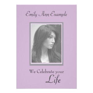 Customizable Photo Remembrance / Funeral Personalized Invite