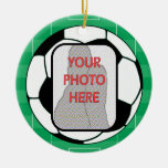 Customizable photo soccer ball award ornament