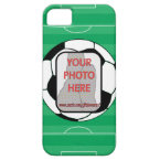 Customizable photo soccer ball iPhone 5 case
