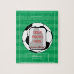 Customizable photo soccer ball puzzle