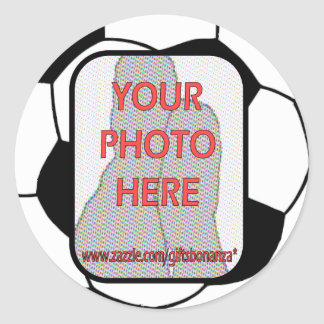Customizable photo soccer ball stickers