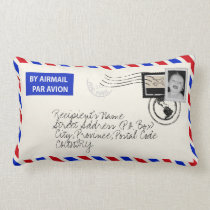 Customizable Photo Upload Airmail Envelope Pillow