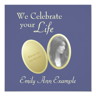 Customizable Photo: Wake / (Living) Funeral Card