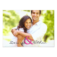 Customizable Photo Wedding Invitation