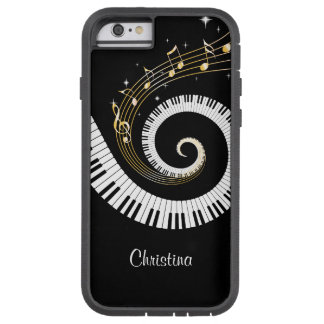 Customizable Piano Keys and Gold Music Notes iphon Tough Xtreme iPhone 6 Case