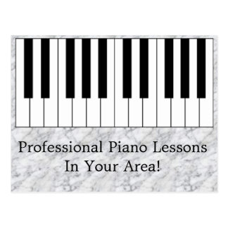 Customizable Piano Lessons Advertising Postcard