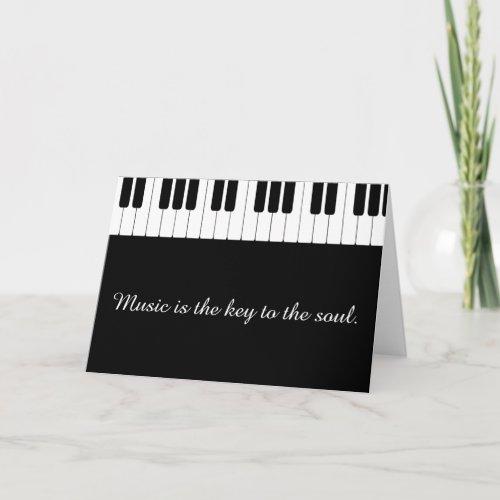 Customizable Piano Music Greeting Card
