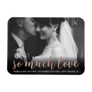 Customizable Pic | Rose Gold So Much Love Magnet