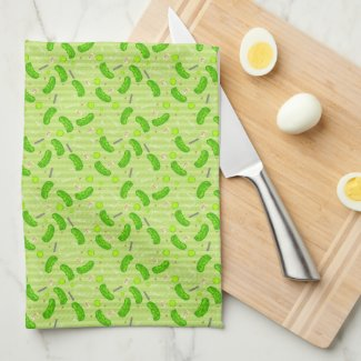 Customizable Pickles & Mason Jar Kitchen Towel