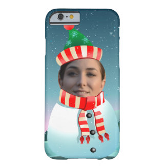 Customizable Picture Snowman Barely There iPhone 6 Case
