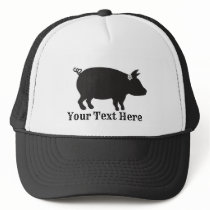 Customizable Pig With Bow Hog Farming Trucker Hat