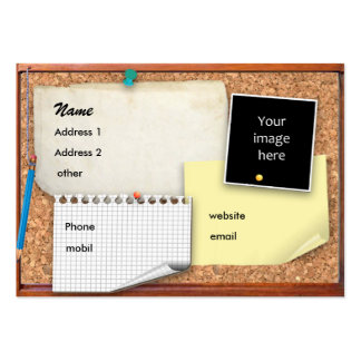 Customizable Pinboard Large Business Card