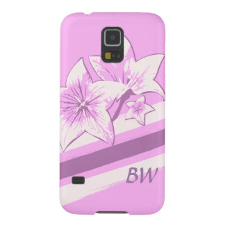 Customizable Pink and cream modern art lillies Galaxy S5 Covers