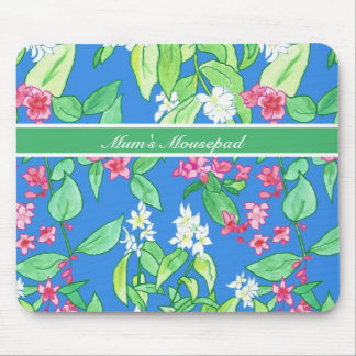 Customizable, Pink and White Blossom Mousepad