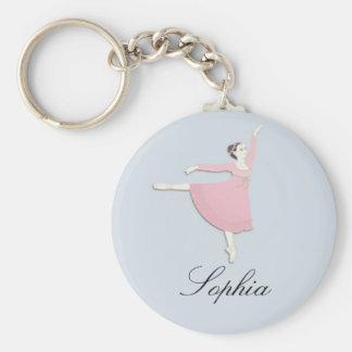 Customizable Pink Ballerina Keychain