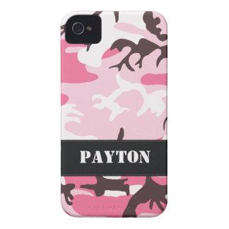 Customizable Pink Camo iPhone 4 Case