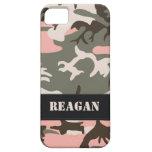 Customizable Pink Camo iPhone 5 Case