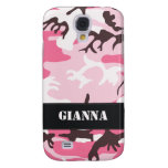 Customizable Pink Camo Samsung Galaxy S4 Cases