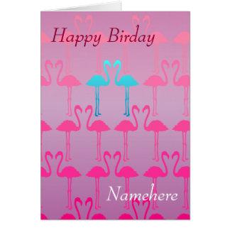 Customizable: Pink flamingo Card