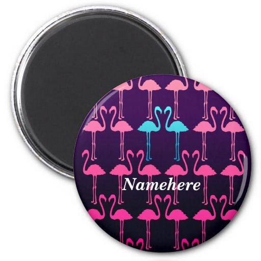 Customizable: Pink flamingo Fridge Magnets