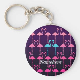 Customizable: Pink flamingo Keychain