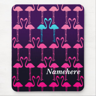 Customizable: Pink flamingo Mouse Pad