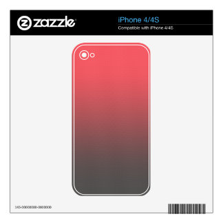 Customizable Pink Gray Ombre Background iPhone 4S Skin