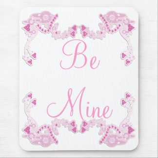 Customizable Pink Hearts Design Mouse Pad