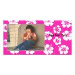 Customizable Pink Hibiscus Photocard Photo Card