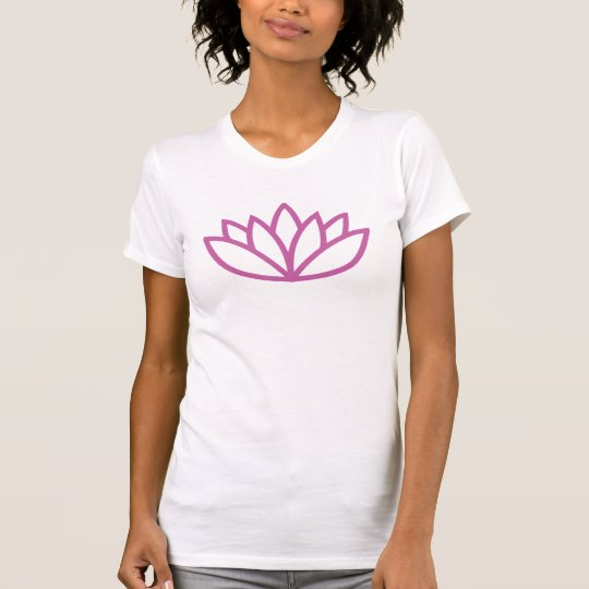 Customizable Pink Lotus Flower Yoga Studio Design T-Shirt