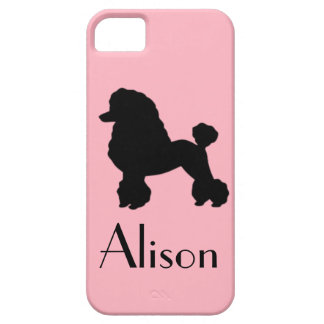 Customizable Pink Poodle iPhone 5/5S Case