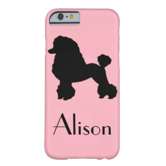 Customizable Pink Poodle iPhone 6 Case