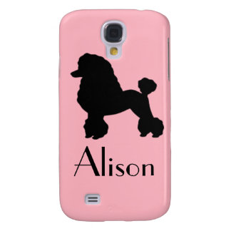 Customizable Pink Poodle Samsung Galaxy S4 Case