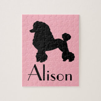Customizable Pink Poodle Skirt Inspired Puzzle